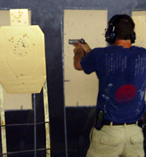 Engaging a series of targets with the Kansas City Shooting Masters